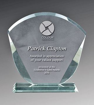 Clear Glass Fan Award