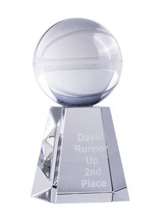 Crystal Basketball Award 138mm