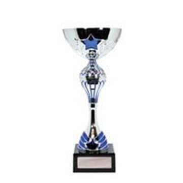 Luxury Range Silver Blue Star Cup