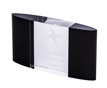Picture of Black and Clear Crystal - Curved Block (EBONY6)( 100.0*180.0)